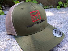 Load image into Gallery viewer, Mighty Bluegill Logo Snapback Trucker Hat.