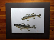 Load image into Gallery viewer, Tennessee Walleye Gyotaku Original Watts Bar