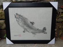 Load image into Gallery viewer, Rainbow Trout Gyotaku. Original. Framed.