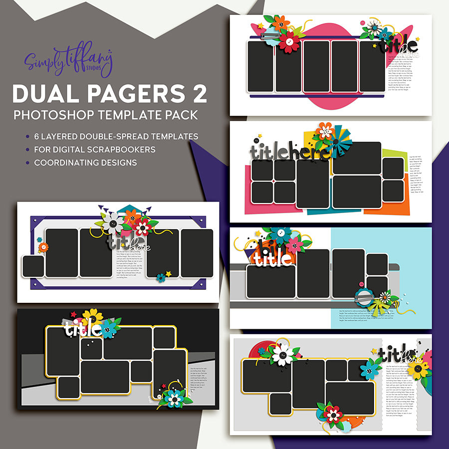 Dual Pagers Template Pack 2