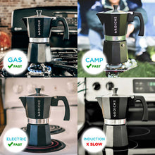 Load image into Gallery viewer, (3 colours) MILANO Stovetop Moka Pot - 3 cup