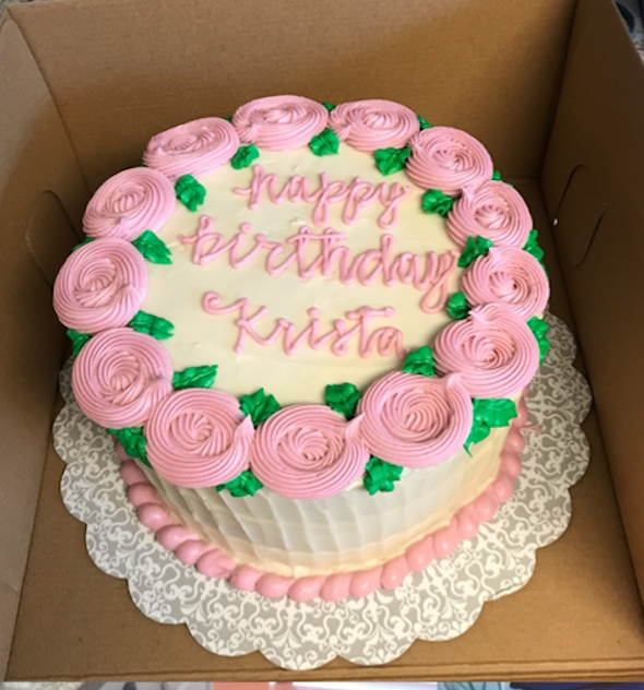 Buttercream decorated Cake