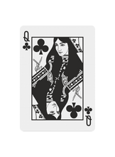 Load image into Gallery viewer, Polyantha Playing Cards - Queen of Clubs