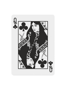 Polyantha Playing Cards - Queen of Clubs