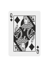 Load image into Gallery viewer, Polyantha Playing Cards - Queen of Diamonds