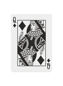 Polyantha Playing Cards - Queen of Diamonds