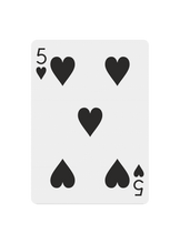Load image into Gallery viewer, Polyantha Playing Cards - 5 of Hearts