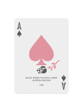 Load image into Gallery viewer, Black Roses Altrosa Playing Cards Ace of Spades