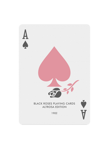 Black Roses Altrosa Playing Cards Ace of Spades