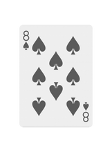 Load image into Gallery viewer, Black Roses Altrosa Playing Cards 8 of Spades