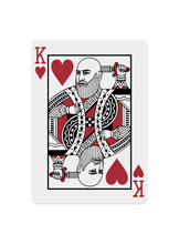 Load image into Gallery viewer, Custom Court Card With Your Face - Black Roses Playing Cards