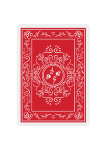 Red Roses Playing Cards - Back Design