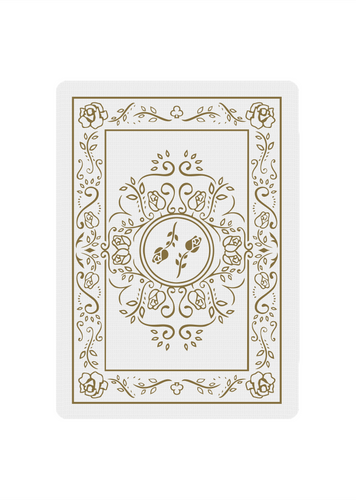 Limited Black Roses White Gold Edition - Black Roses Playing Cards