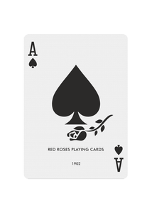 Red Roses Playing Cards - Ace of Spades