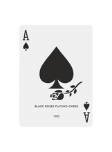 Load image into Gallery viewer, Black Roses Playing Cards V1 - Ace