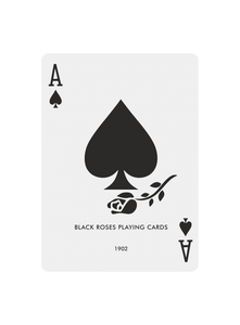 Black Roses Playing Cards V1 - Ace