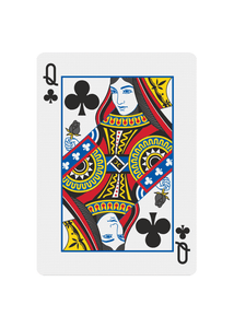 Red Roses Playing Cards - Queen of Clubs