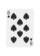 Load image into Gallery viewer, Red Roses Playing Cards - Eight of Spades