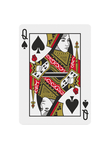 Custom Court Card With Your Face - Black Roses Playing Cards