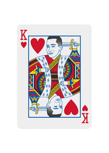 Red Roses Playing Cards - King of Hearts