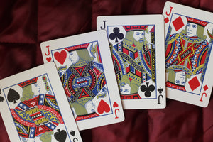 Red Roses Playing Cards - Black Roses Playing Cards