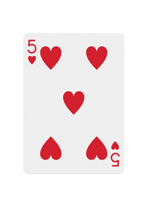 Red Roses Playing Cards - 5 of Hearts