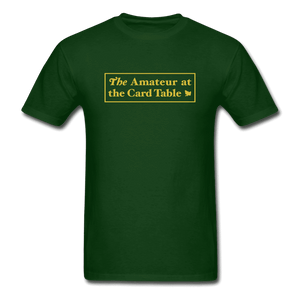 The Amateur at the Card Table - forest green