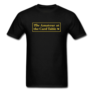 The Amateur at the Card Table - black