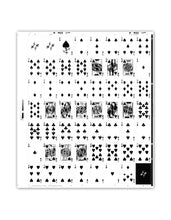 Load image into Gallery viewer, Polyantha Playing Cards Uncut Sheet - Black Roses Playing Cards