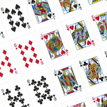 Load image into Gallery viewer, Redrawn Standard Face Card Templates PDF DOWNLOAD - Black Roses Playing Cards
