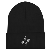Load image into Gallery viewer, Cuffed Black Roses Beanie - Black Roses Playing Cards