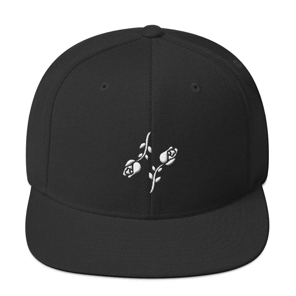 Black Roses Snapback - Black Roses Playing Cards