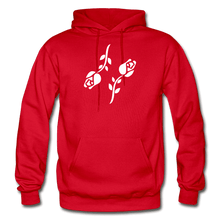 Load image into Gallery viewer, Black Roses Hoodie - red