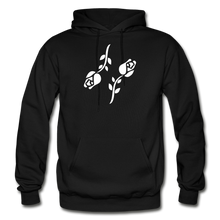 Load image into Gallery viewer, Black Roses Hoodie - black
