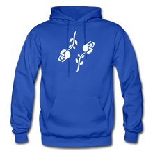 Load image into Gallery viewer, Black Roses Hoodie - royal blue