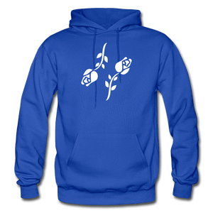 Black Roses Hoodie - royal blue