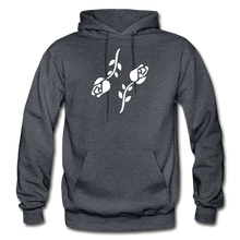 Load image into Gallery viewer, Black Roses Hoodie - charcoal gray