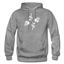 Load image into Gallery viewer, Black Roses Hoodie - graphite heather
