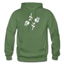 Load image into Gallery viewer, Black Roses Hoodie - military green