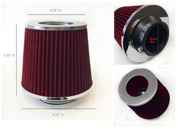 Air Filter replacement for most aftermarket cold air intake system