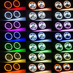 "7"" Headlights LED RGB pour JEEP/Hummer/Harley ( STYLE 4 )"