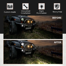 "Charger l'image dans la galerie, 7"" Headlights LED pour JEEP/Hummer/Harley ( STYLE 3 )"