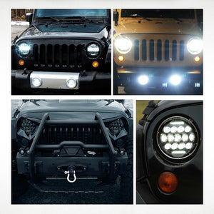 "7"" Headlights LED pour JEEP/Hummer/Harley ( STYLE 1 )"