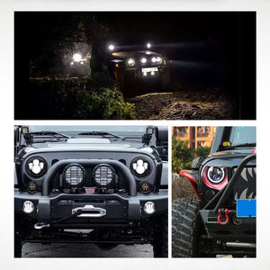 "7"" Headlights LED pour JEEP/Hummer/Harley ( STYLE 3 )"