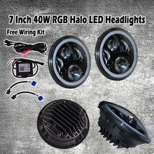 "Charger l'image dans la galerie, 7"" Headlights LED RGB pour JEEP/Hummer/Harley ( STYLE 4 )"