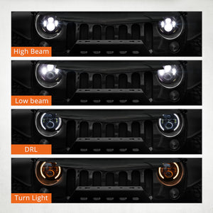 "7"" Headlights LED pour JEEP/Hummer/Harley ( STYLE 2 )"