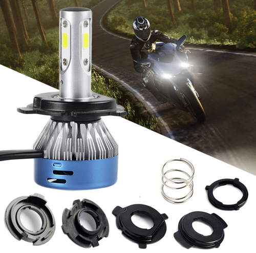 LED H4/HS1 pour MOTO, SCOOTER, MOTOCROSS. 40W, Compatible courant AC/DC, Hi/Low. (1 unité)