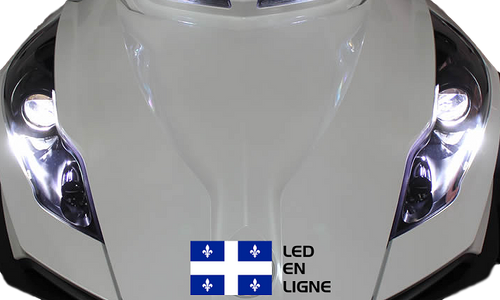 Conversion LED pour FOGS  Spyder RT 2010-2011-2012-2013-2014-2015-2016-2017-2018-2019 (paire)