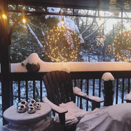 Love how beautiful the orbs look all year round.  This winter customer photo is amazing!