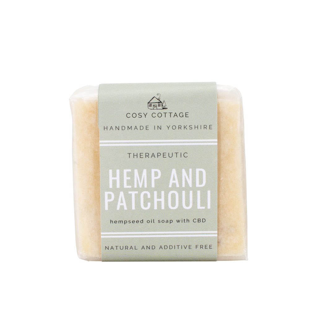 Hemp and patchouli handmade soap